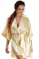 Женский домашний халат из атласа (К12935)
