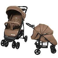 Прогулочная коляска в льне Baby Tilly Avanti бежевая