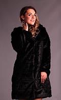 Шуба женская длинная с капюшоном из искусственной норки (К12974), фото 1