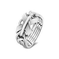 Серебряное кольцо головоломка для мужчин от Wickerring
