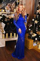 Новогоднее женское длинное платье (К13085)