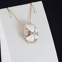Прекрасный кулон с кристаллами Swarovski + цепочка, покрытые золотом 0886