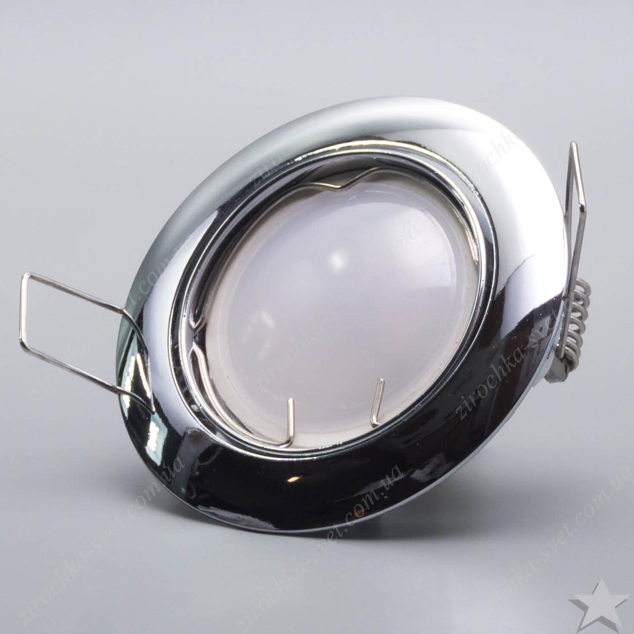 Светильник встраиваемый поворотный Feron DL308 хром под лампу MR16
