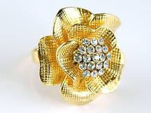 """Кольцо """"Королевская золотистая роза"""""""