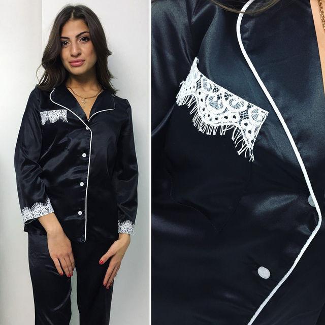 8c63b78e70dd Атласная женская пижама (К14189) - DESEO BOUTIQUE. Оптово-розничный магазин  одежды от