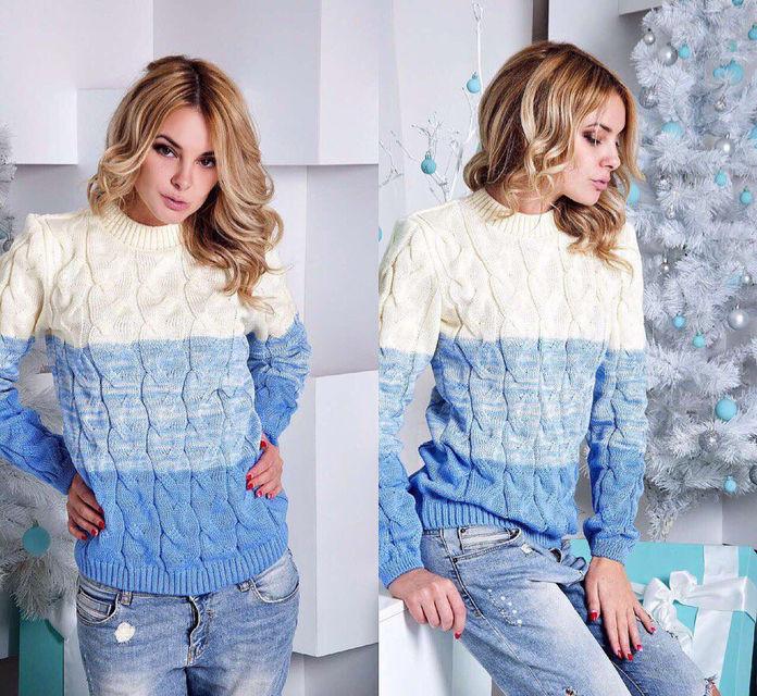 Шерстяной женский свитер (К14225)