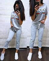 Летний Костюм в стиле Gucci футболка и капри . Цветов и размеров МНОГО....