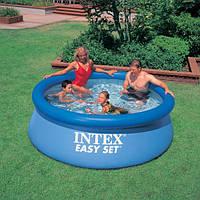 Бассейн надувной Intex (Интекс) 28110, семейный, наливной, круглый, синий