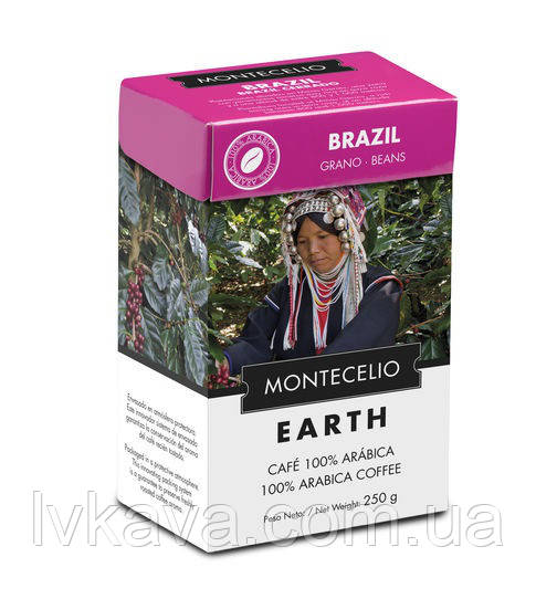 Кофе в зернах Cafe Montecelio Earth Brasil, 250г
