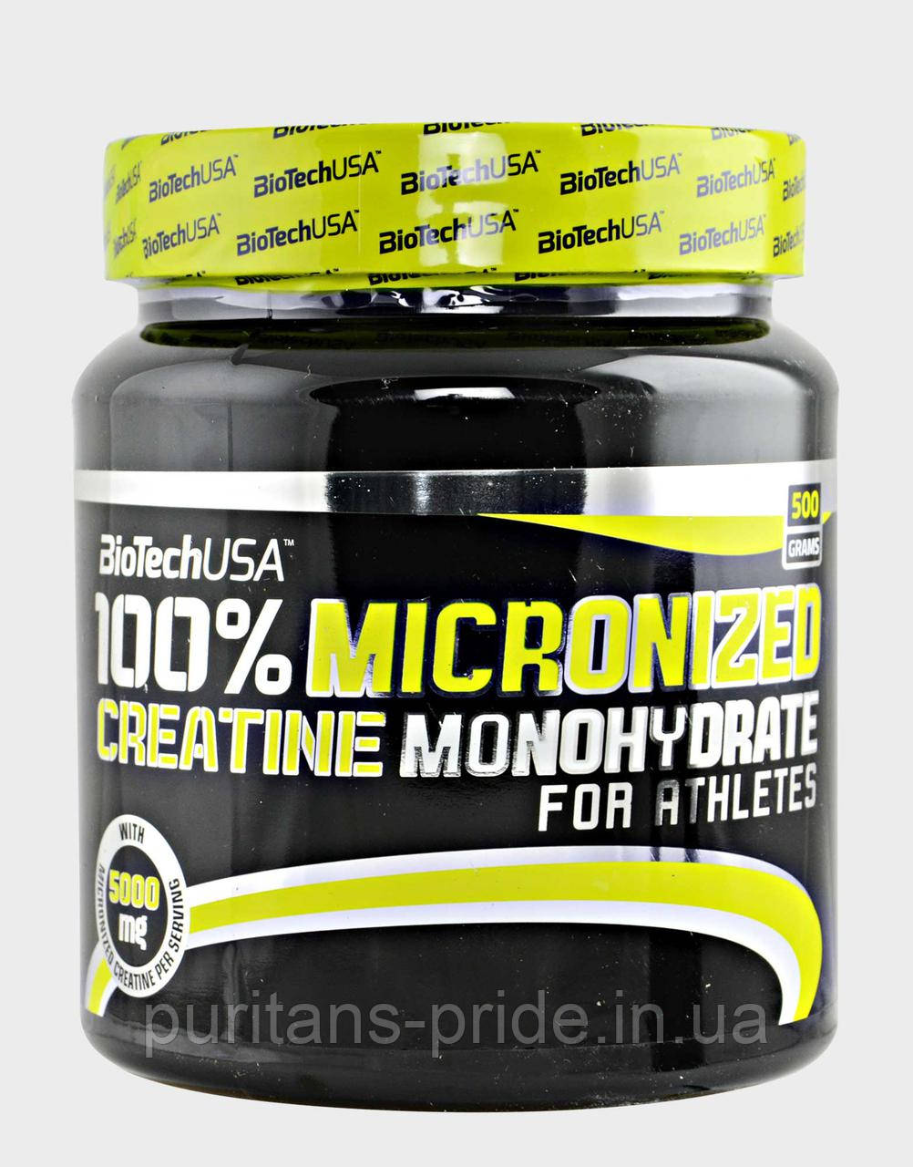 Креатин, Моногидрат, BioTech  USA100% Creatine Monohydrate 500g