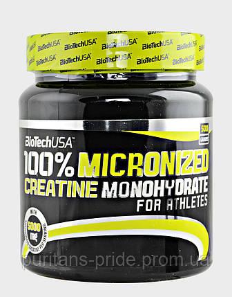 Креатин, Моногидрат, BioTech  USA100% Creatine Monohydrate 500g, фото 2
