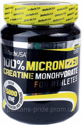 Креатин Моногидрат BioTech  USA100% Creatine Monohydrate 1000g, фото 2