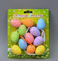 Пасхальный декор подвески яйца 4х2 см (PD083)