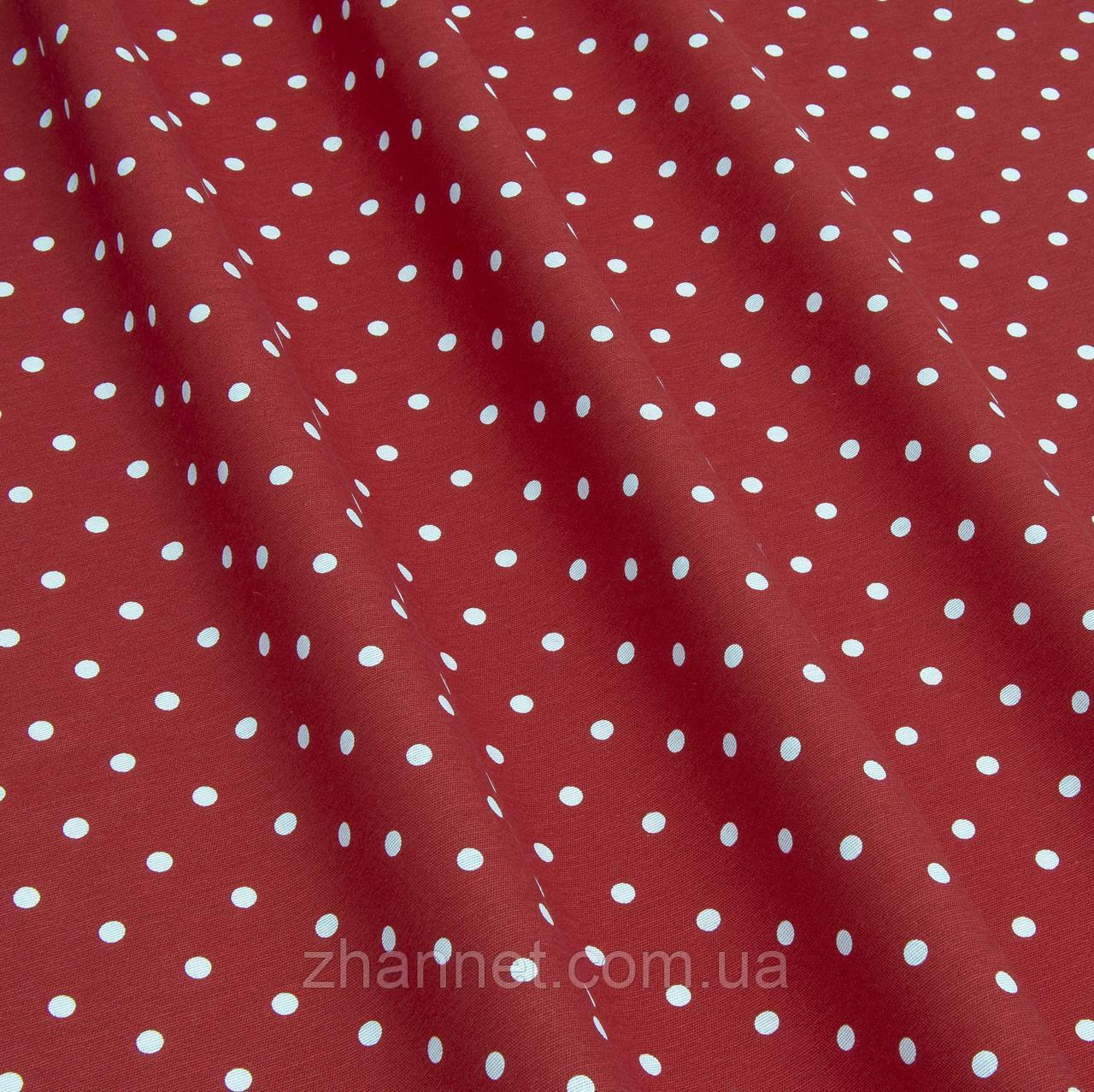 Копия Ткань Sevilla горох красный фон