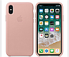Кожаный чехол Leather Case IPHONE Х / XS (Pale Pink)