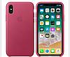 Кожаный чехол Leather Case IPHONE Х / XS (Pink Fuchsia)
