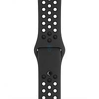 Оригинальный, силиконовый ремешок Apple, Nike Anthracite / Black Sport Band для часов Apple Watch 38мм (S/M и M/L) - антрацит / черный (MQ2K2)