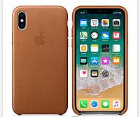 Кожаный чехол  Leather Case IPHONE Х / XS (Saddle Brown), фото 1