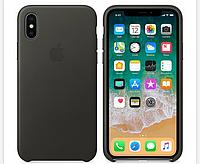 Кожаный чехол Leather Case IPHONE Х / XS (Charcoal Gray), фото 1