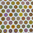 Декоративная ткань для штор, цветочные круги мультиколор, фото 2