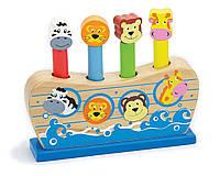 Деревянная игра-прыгалка Viga Toys «Веселый ковчег» 50041