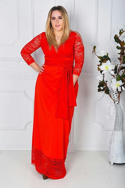 Платье женское длинное нарядное батал (К14723)