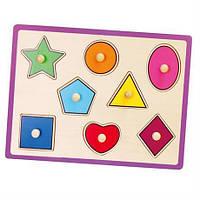 Деревянная рамка-вкладыш Viga Toys «Формы» 50015