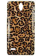 Чехол с рисунком для Huawei Ascend G700 Леопардовый принт