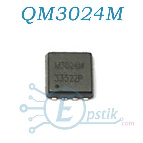 QM3024M, MOSFET транзистор, N channel, 30V, 46A, PROPAK 3X3