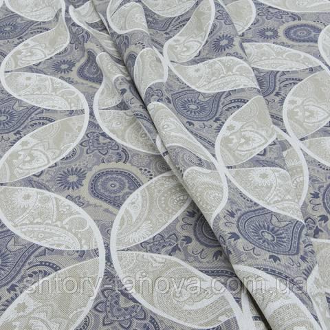 Декоративная ткань для штор, дамаско серый