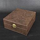"""Набір ручної роботи """"Козак"""" (4 чарки х 30мл), бронза, в подарунковому кейсі, фото 3"""