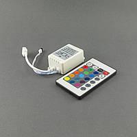Контроллер светодиодной ленты RGB 6A, пульт на 24 кнопки, инфракрасный, фото 1