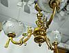 Люстра на 3 плафони, Панська класика, старовинна світла бронза, фото 3