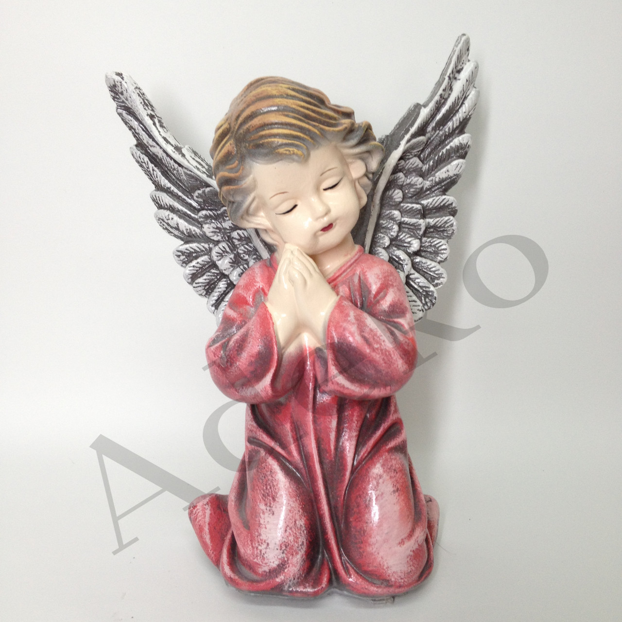 Статуетка із гіпсу Янголятко з крилами 28 см