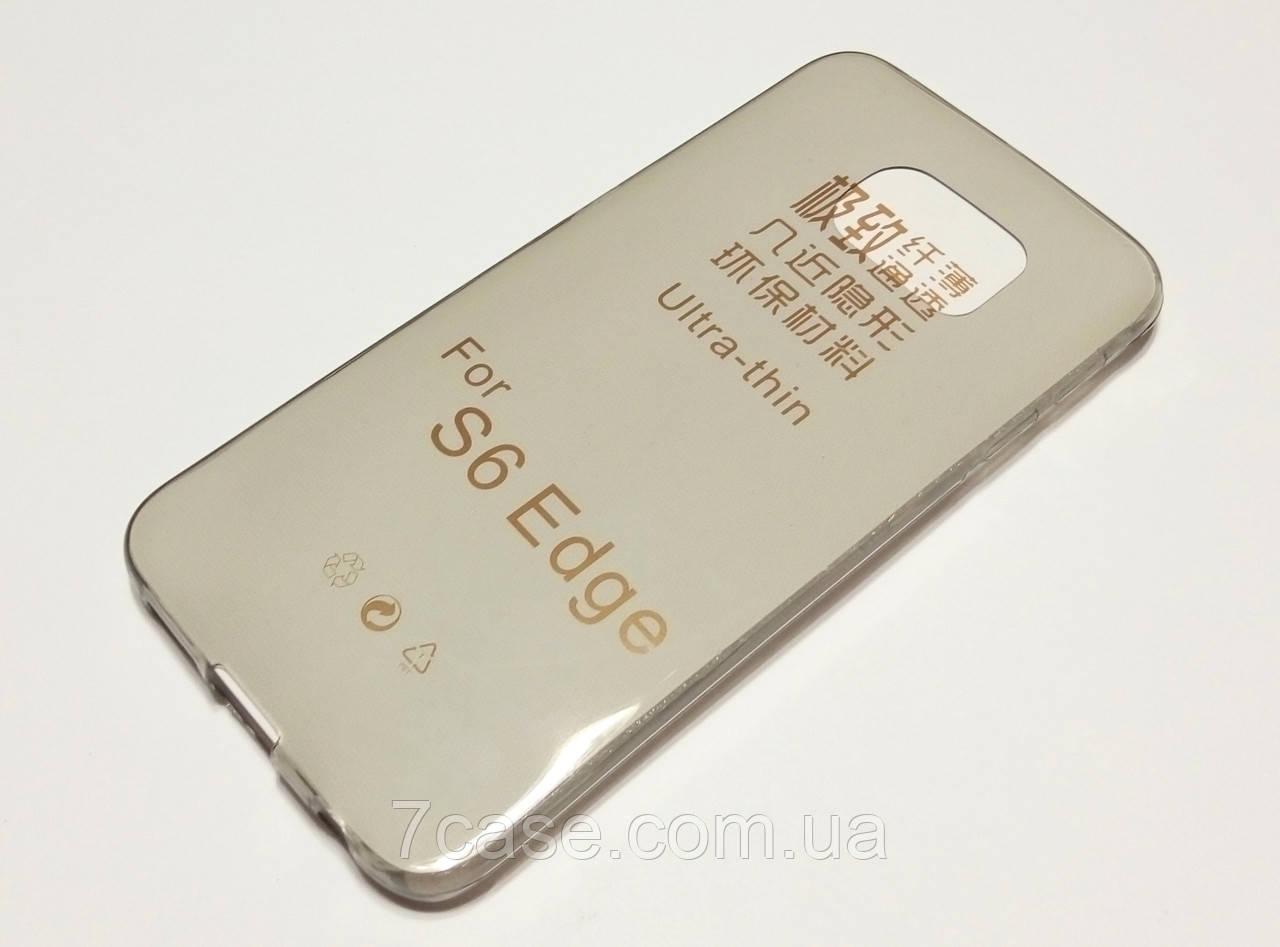 Чехол для Samsung Galaxy S6 Edge G925 силиконовый ультратонкий затемненный