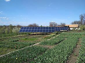 поля солнечной электростанции установленные на участке