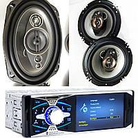 Крутой набор Авто-Звука с Магнитолой Pioneer 4011B+ овалы + круглые 16 см! + ПОДАРКИ!, фото 1