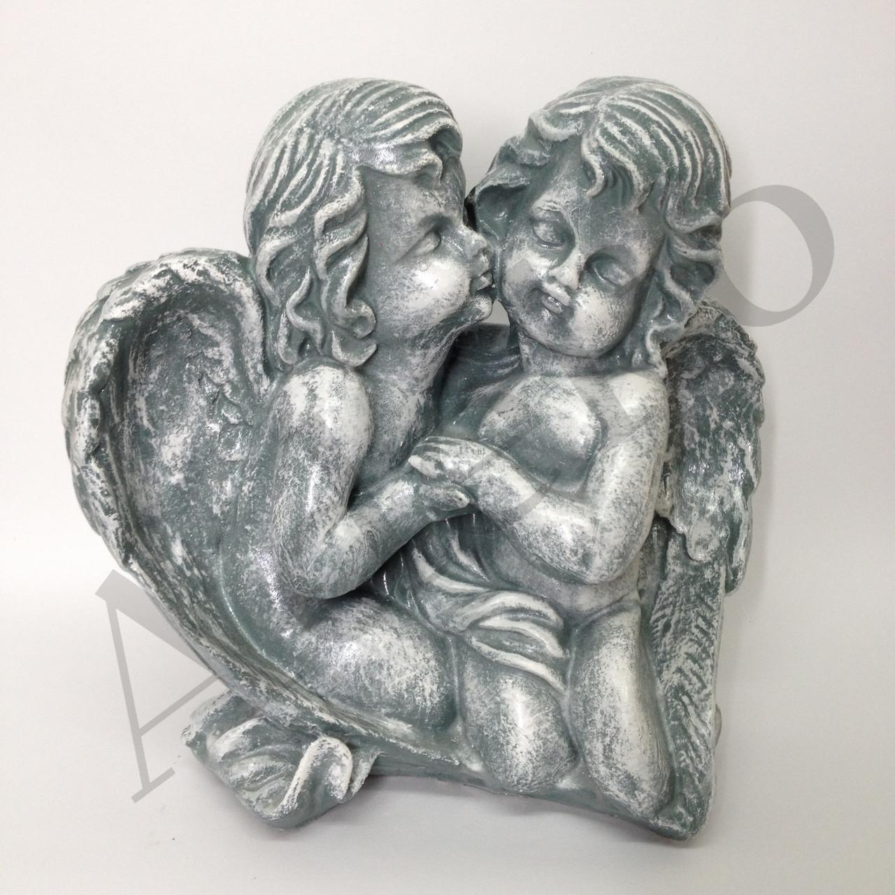 Фигура для дачи Ангелочки пара на камнях 27 см