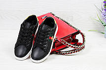 Кроссовки GUCCI (реплика) черные с белым, фото 3