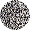 Шарики сахарные серебро 5 мм 200 грамм