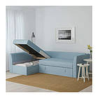 Угловой раскладной диван IKEA HOLMSUND Orrsta голубой 292.282.05, фото 3