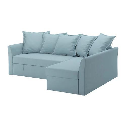 Угловой раскладной диван IKEA HOLMSUND Orrsta голубой 292.282.05