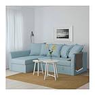 Угловой раскладной диван IKEA HOLMSUND Orrsta голубой 292.282.05, фото 2
