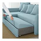 Угловой раскладной диван IKEA HOLMSUND Orrsta голубой 292.282.05, фото 4