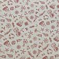 Декоративная ткань для штор, морская тематика красный, фото 2