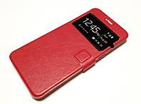 Чехол книжка с окошком momax для Samsung Galaxy S6 Edge Plus G928 красный, фото 1