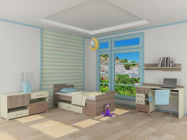 Детская комната Mirage ваниль / сонома трюфель / мокко (комплект 3)