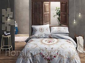 Постельное белье Tac сатин Sophie gold v01 золотое двухспального евро размера