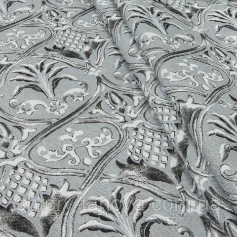 Декоративная ткань для штор, керамика серый
