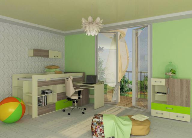 Детская комната Mirage ваниль / сонома трюфель / лайм (комплект 2)